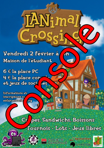 Affiche - LANimal Crossing - Place Console