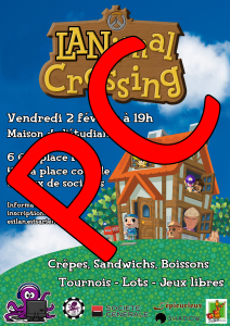 Affiche - LANimal Crossing – Place PC