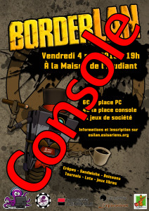 Affiche - BorderLAN - Place Console