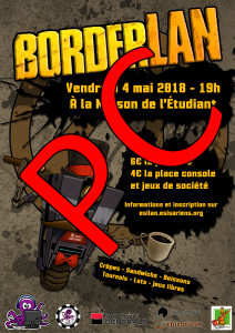 Affiche - BorderLAN - Place PC