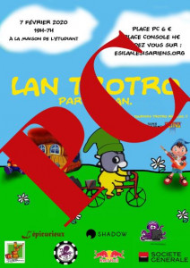Affiche - LAN Trotro - Place PC